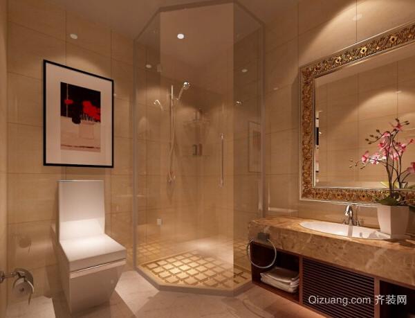 大户型轻松舒适的现代卫生间装修效果图