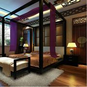精致中式卧室效果图