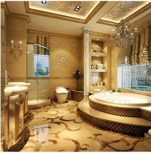 金色豪华的卫生间