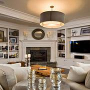 美式风格客厅书柜