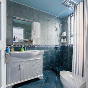 清新蓝色的卫生间