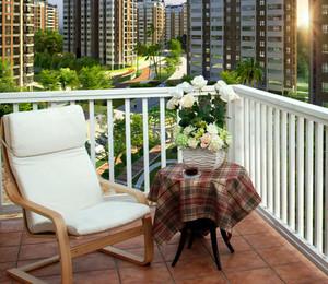 暖意盎然的黄色阳台设计装修效果图