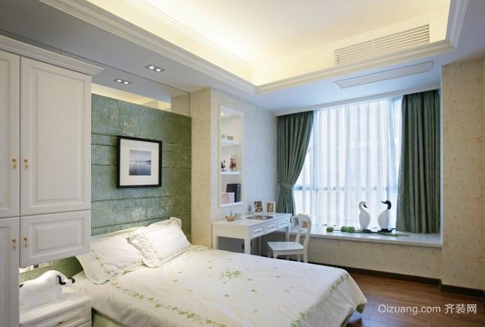 唯美欧式风格大户型卧室飘窗装修效果图