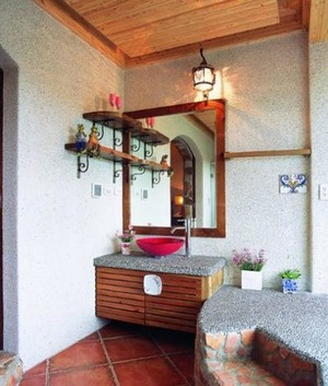新中式田园风格30平米家庭卫生间装修效果图