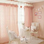 粉色浪漫的窗帘