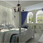 现代明亮的卧室