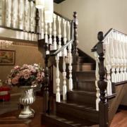 造型多样的实木楼梯效果图
