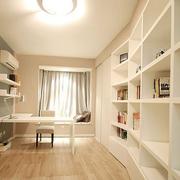 白色简约书房书柜