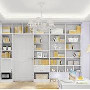 清新白色书柜
