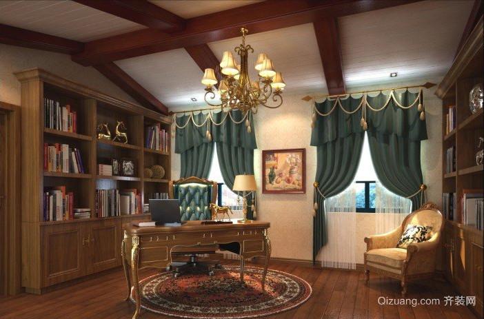 别墅优雅气派的时尚书房装修效果图
