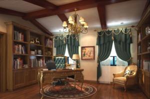 美式风格的书房