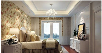 2015歐式臥室壁紙裝修效果圖