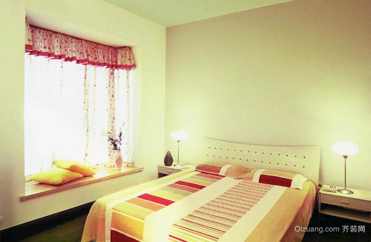 浪漫简约的高层卧室飘窗效果图