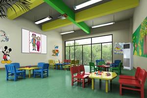 欢快、清新的幼儿园教室装修效果图