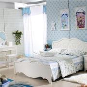 韩式蓝色时尚卧室