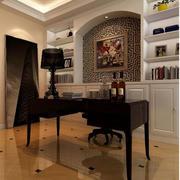 现代美式家居书房书柜