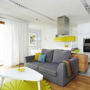 客厅灰色简约沙发