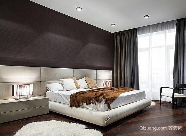 120平米两室一厅现代简约风格卧室装修效果图