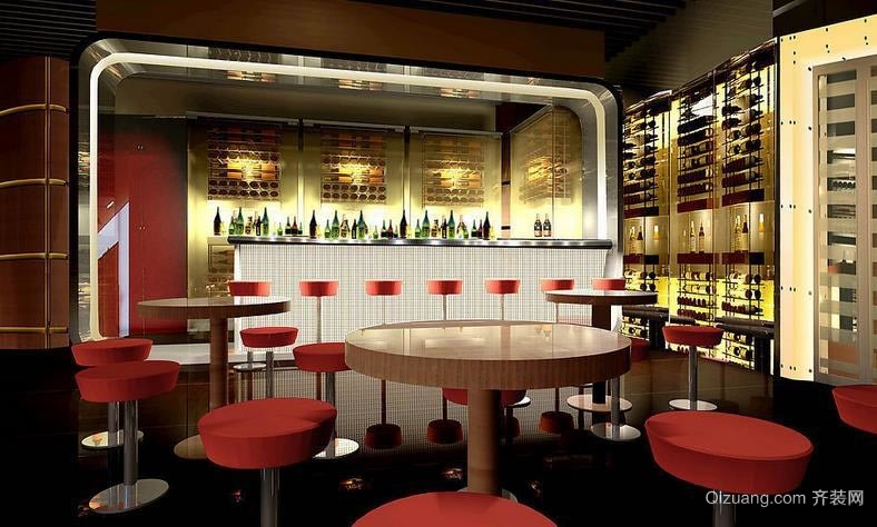 炫丽酒吧灯饰装修设计效果图大全
