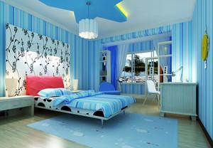 蓝色梦幻儿童房