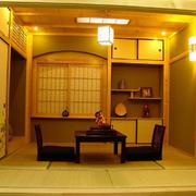 暖色调的家居榻榻米