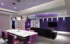 紫色浪漫的餐厅