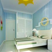 儿童房天蓝色壁纸