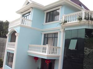 乡村小洋房家庭阳台护栏小型罗马柱装修效果图