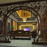 中式家装镂空隔断