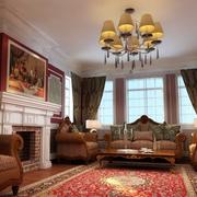 美式风格客厅吊顶