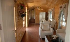 具有自然气息的时尚木屋别墅室内装修效果图大全