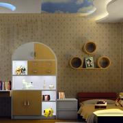 儿童房暖色调装饰
