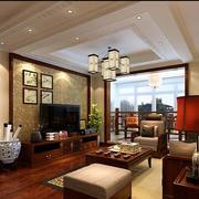 新中式大客厅吊顶