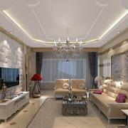 客厅白色电视背景墙