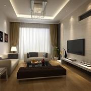 公寓客厅生态木地板