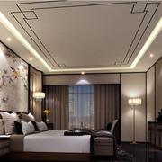 简约中式卧室吊顶