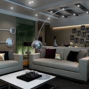 冷色调公寓客厅展示