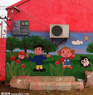 创新思维幼儿园壁画装修效果图