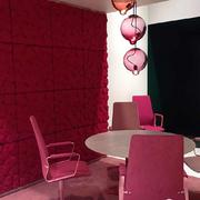 餐厅红色软包墙面