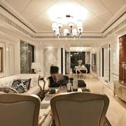 现代精致别墅客厅