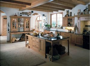 如自然清新般的美式乡村厨房装修效果图