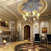 客厅花瓣状的吊顶