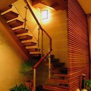 阁楼楼梯隔断装饰