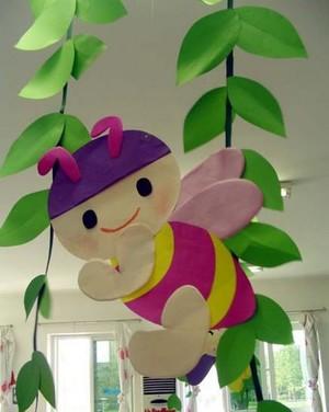 各种各样的幼儿园室内吊饰环境布置装修设计图片