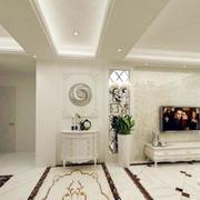 客厅白色简约吊顶
