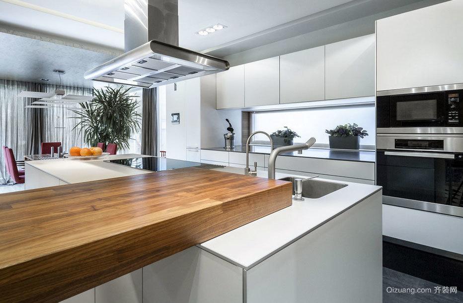 2015高贵大气的都市开放式厨房装修效果图