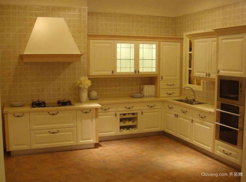 120平米大户型厨房奢华璀璨的时尚欧派橱柜装修效果图
