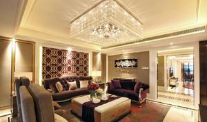 100平米法式浪漫迷人的客厅装修效果图