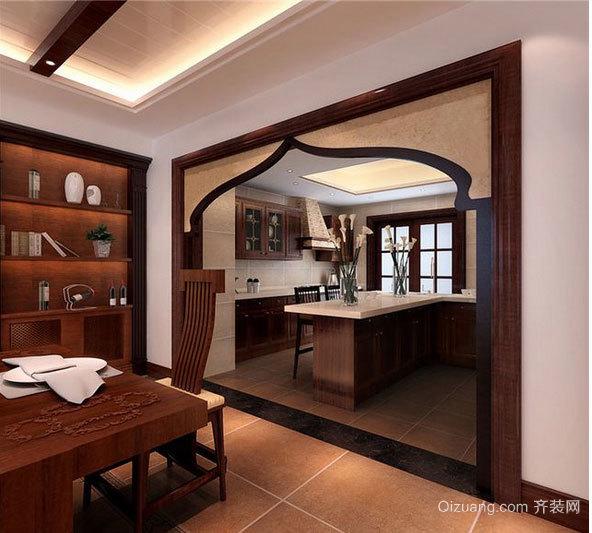 优雅禅意风的东南亚厨房装修效果图