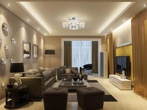 黑白灰黄金单身汉公寓客厅装修效果图